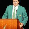 Bubba Watson <br /> <br /> Athletes are recognized during the Athletic Honor Awards banquet  on Monday, April 21, 2014 in Athens, Ga. (Photo by Sean Taylor)