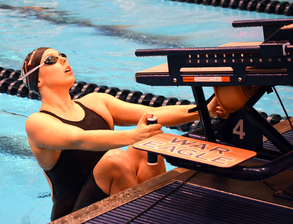 Kylie Stewart during the SEC Swimming and Diving Championships