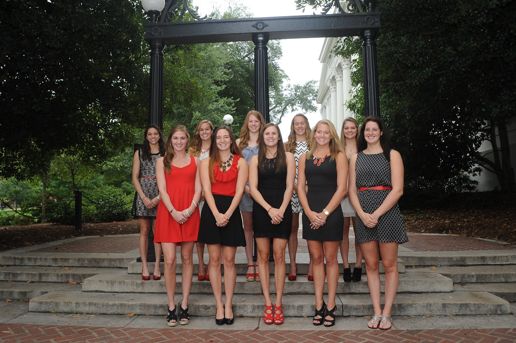 Georgia swimming and diving seniors 2014-15