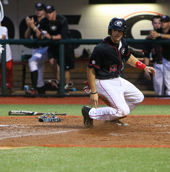 Georgia catcher Michael Curry (13) (Photo by Emily Selby)