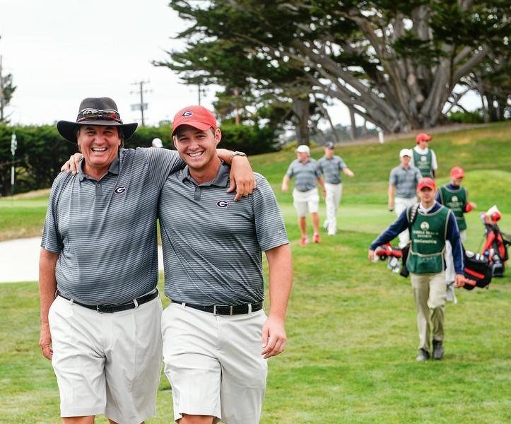 Coach Chris Haack and senior Sepp Straka - Georgia Men's Golf Team - (photo courtesy of UGA)