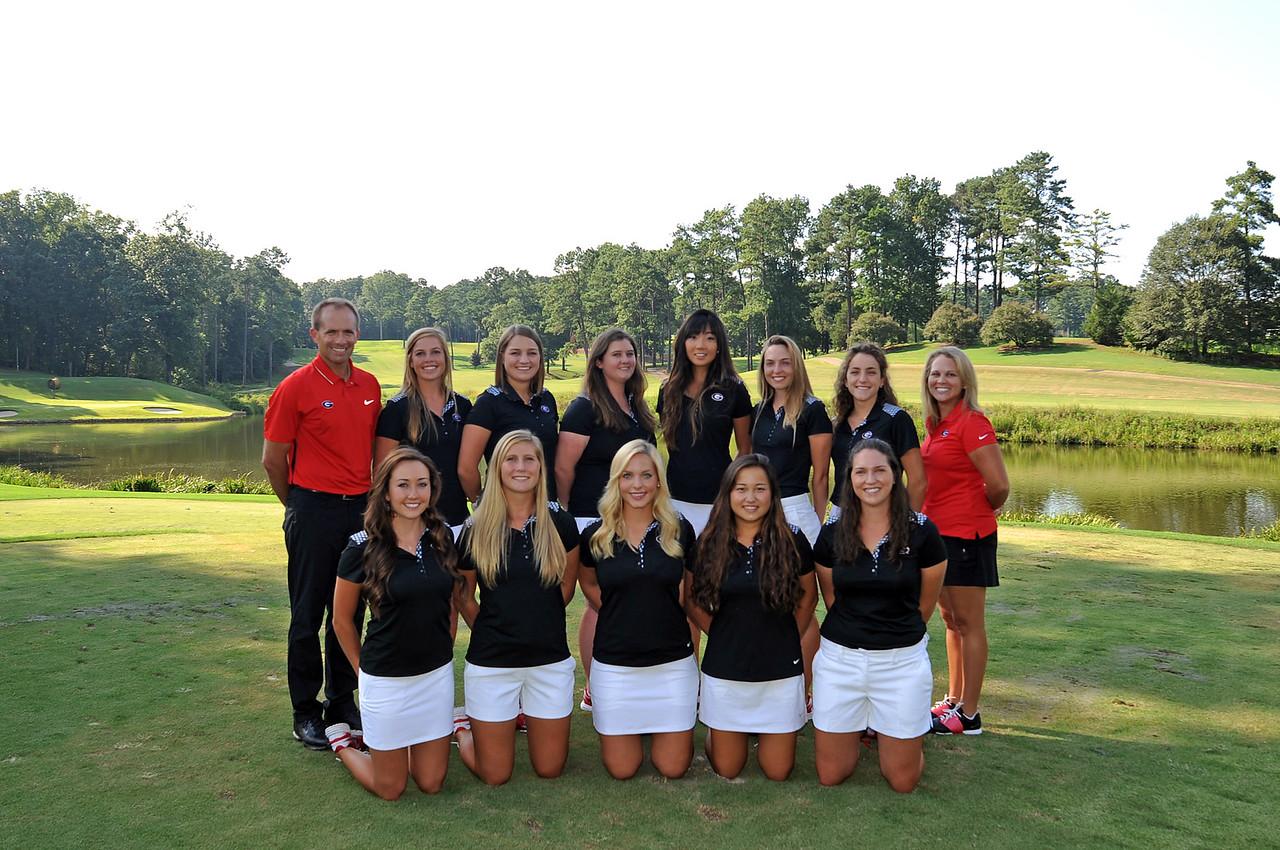 Women's Golf 2015-16 Georgia's 2015-16 team (Photo by Sean Taylor)