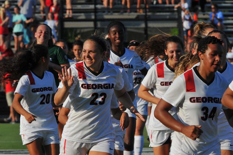 University of Georgia women's soccer team (Photo by Perry McIntyre Jr.)